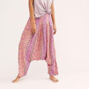 Free People Haley Harem Lounge Pants Jogger Pink
